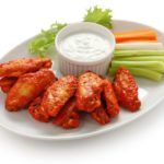 10943104 - buffalo chicken wings with blue cheese dip